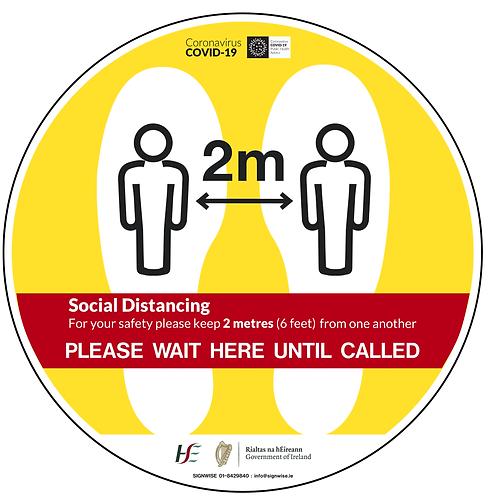Social Distancing Floor Graphics - Circle 4