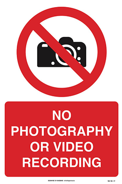 No Photography or Video SS - 17
