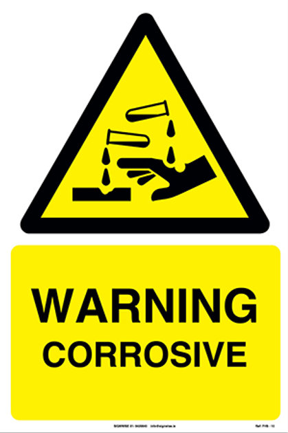 Warning Corrosive FHS - 10
