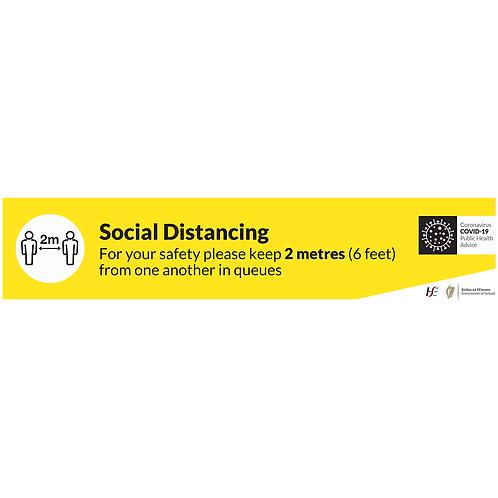 Social Distancing Floor Graphics - Rectangle 1