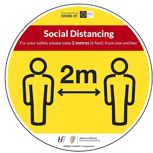 Social Distancing Floor Graphics - Circle 6