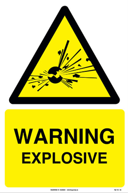 Warning Explosive IS - 03