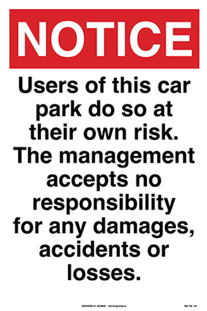 Notice-Car Park SS - 44