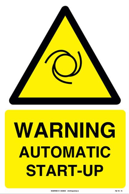 Warning Auto Start-Up IS - 16