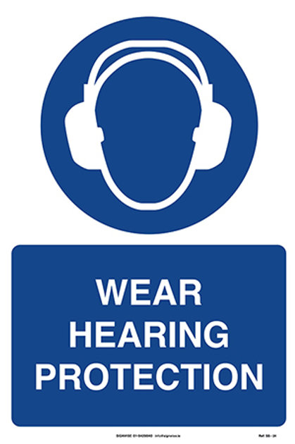 Wear Hearing Protection SS - 24