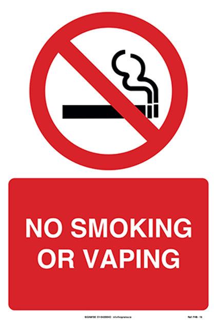 No Smoking or Vaping FHS - 19