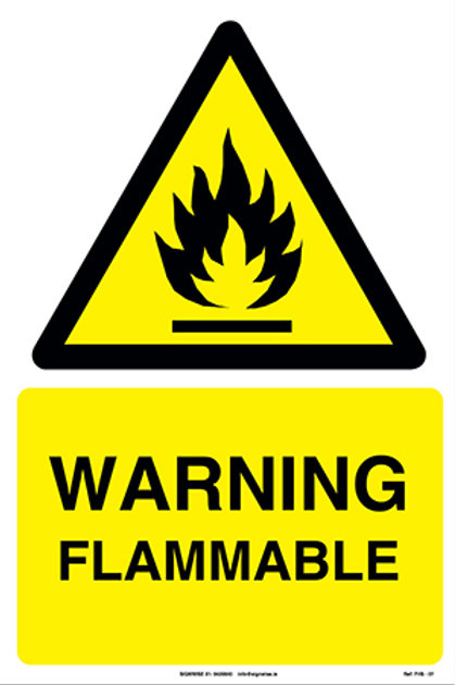 Warning Flammable FHS - 07