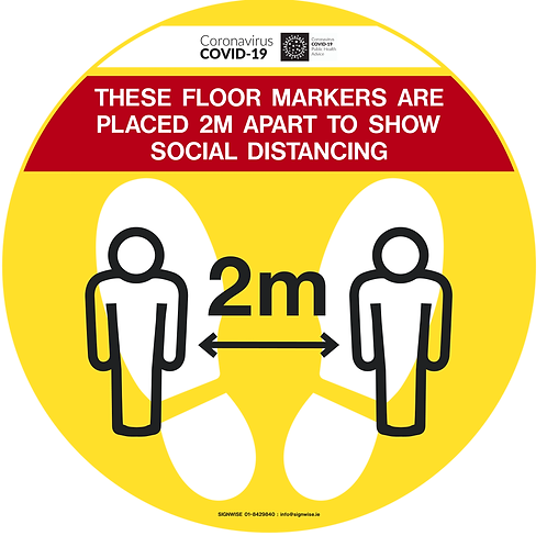 Social Distancing Floor Graphics - Circle 1