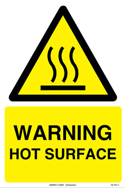 Warning Hot Surface FHS - 14