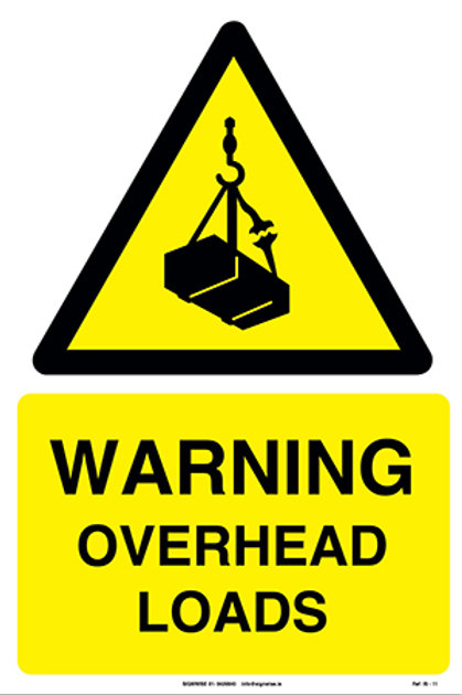 Warning Overhead Head Loads IS - 11