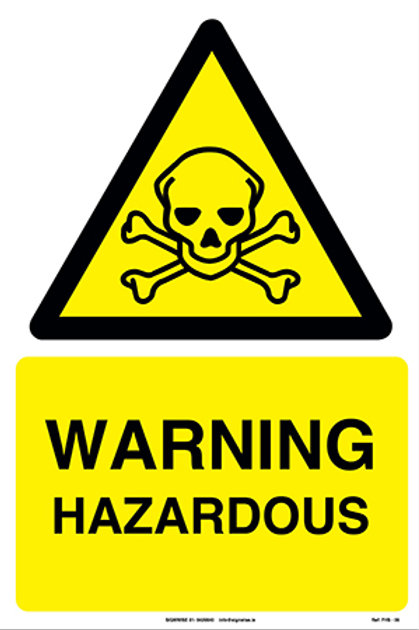 Warning Hazardous FHS - 09