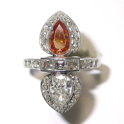 2.85 1950's Antique Vintage Natural Cognac Diamond