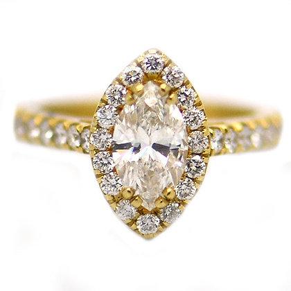 2.01Ct Marquise Diamond Engagement Ring