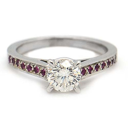 1.32ct Diamond Pink Sapphire Engagement Ring