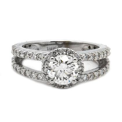 2.16ct HSI1 Split Shank Diamond Engagement Ring