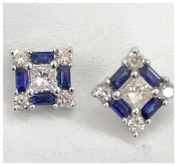 Sapphire/Diamond Studs