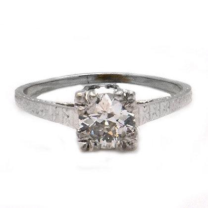3/4 Ct Vintage Old Miner Diamond Engagement Ring