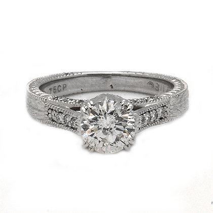 1.50ct FSI Antique Vintage Diamond Engagement