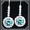 Thumbnail: Dangling Blue/White Diamond Earrings
