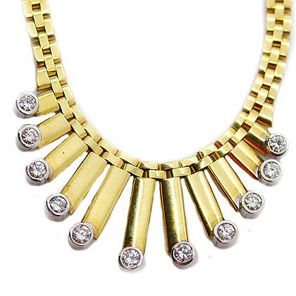 .94 Ct Panther Chain Cleopatra Design Yellow Gold