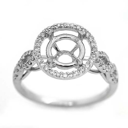 .50 Ct Entwined Diamond Engagement Ring 18K