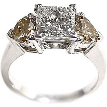 3.33 Fancy Princess Diamond Engagement Ring