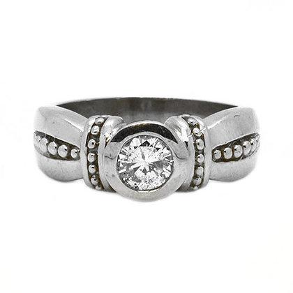 .45 Ct Solitaire Diamond Bezel Set Engagement Ring