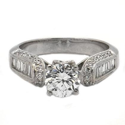 1.96 DSI2 GIA Certified Diamond Engagement Ring