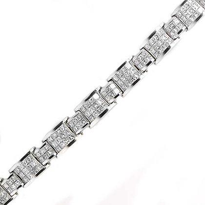 Beautiful Diamond Princess Cut Bracelet 10 Cts