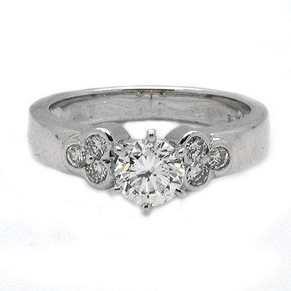 1.01 Flower Diamond Engagement Ring