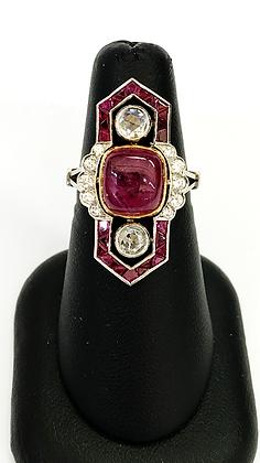 Vintage 1930's Ruby Diamond Ring