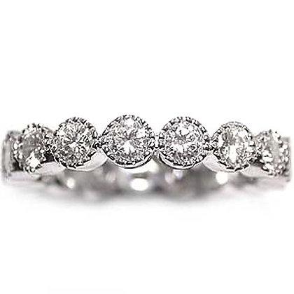1.42 Vintage Style Diamond Wedding Eternity Band