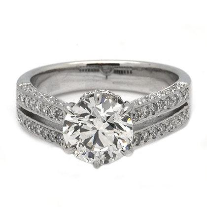 2.56 Antique Solitaire Diamond Engagement Ring