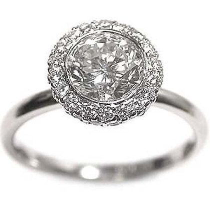 1.75 IVS1 Ideal Cut Diamond Engagement Ring
