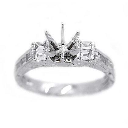 ¾ct FGVS Diamond Engagement Ring Mounting 18K