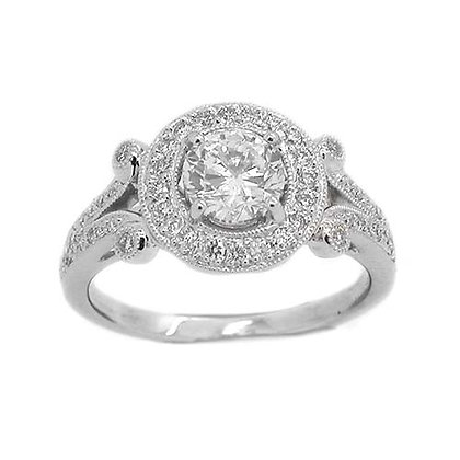 Vintage Style GIA Diamond Engagement Ring 1.40 Cts