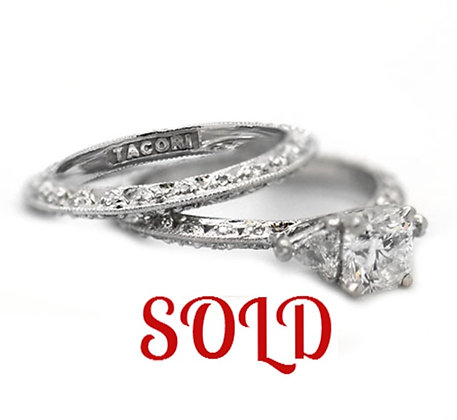 Original Tacori Engagement Ring With Matching Band