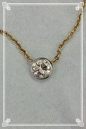 3/4ct Bezel Diamond Pendant