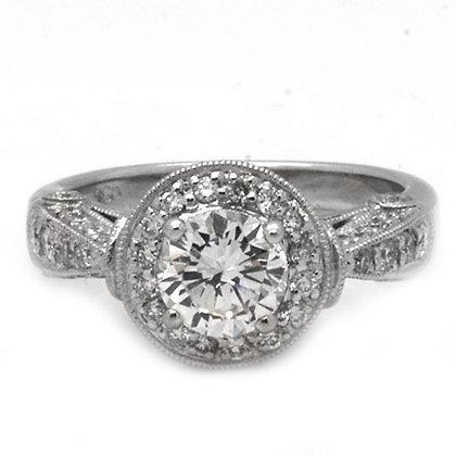 1.86 HVS Antique Vintage Diamond Engagement Ring