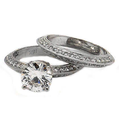 2.26  Diamond Engagement Ring with Matching Band