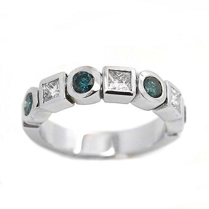 1.10ct Blue Diamond Wedding or Anniversary Band