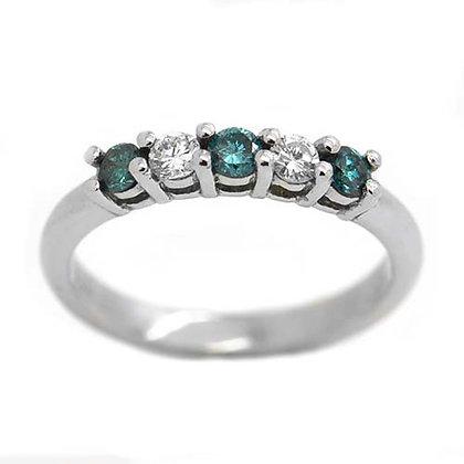 .42 FVS Blue Diamond Wedding Band Anniversary Ring