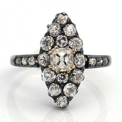 1869 Old Miner Antique Diamond Ring 1.50 Cts