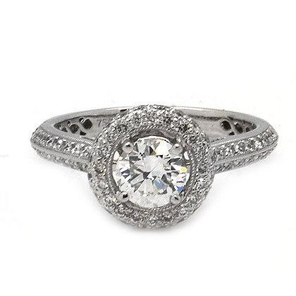1.41 GVS Certified Vintage Diamond Engagement Ring