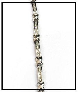 Channel Bar 1 ct Diamond Bracelet