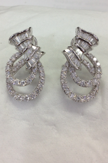 Dressy Diamond Clip Earrings