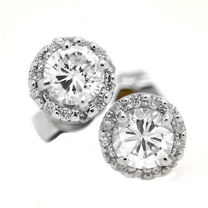 Vintage Style Diamond Stud Earrings .85 Cts