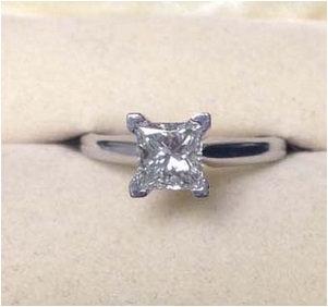 .99ct FSI Princess Cut Diamond Engagement Ring 18K