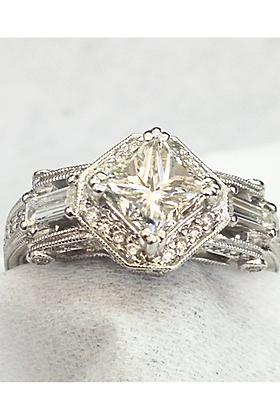 2.06 cts Princess Engagement Ring