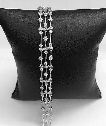 Lacy Three Row Diamond Bracelet 200 Diamonds